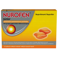 NUROFEN Junior pomeranč 100mg 12 žvýkacích tablet