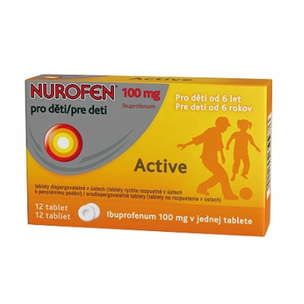 NUROFEN PRO DĚTI ACTIVE 12X100MG Tablety rychle rozp.