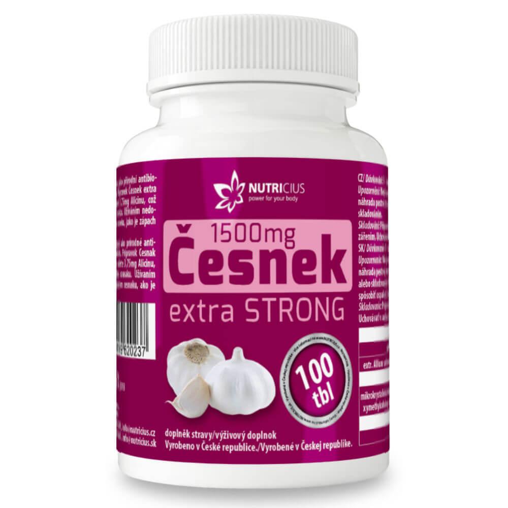 NUTRICIUS Česnek extra strong 1500 mg 100 tablet