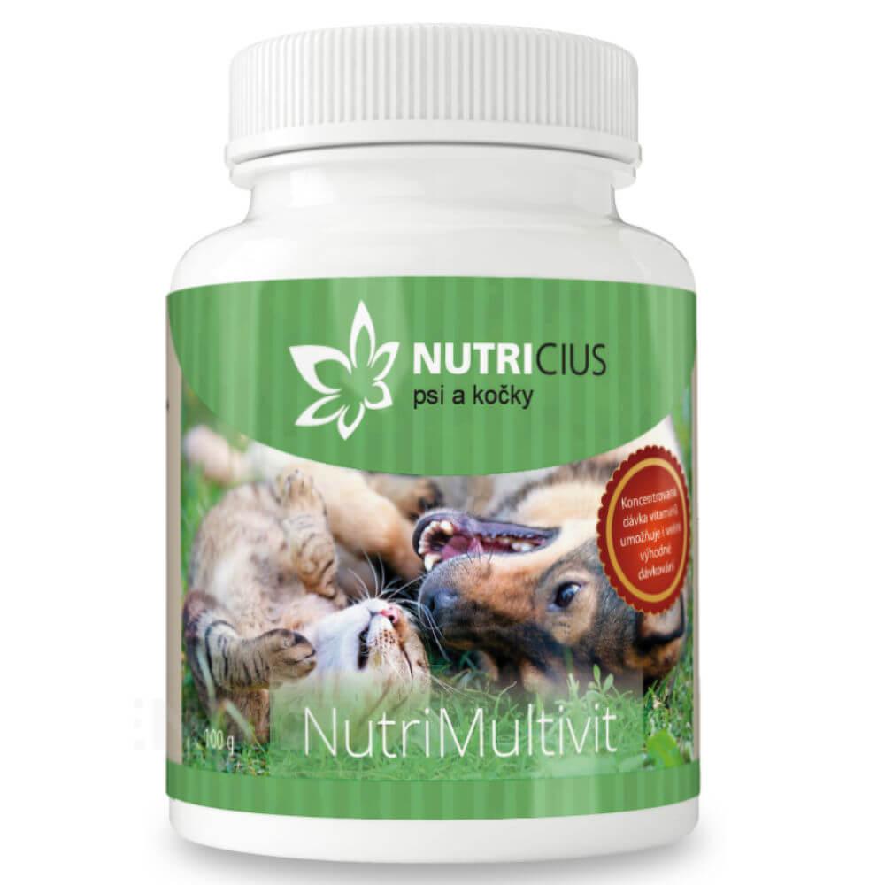 NUTRICIUS NutriMultivit sypký multivitamín pro psy a kočky 100 g VÝPRODEJ exp. 30. 01. 2019