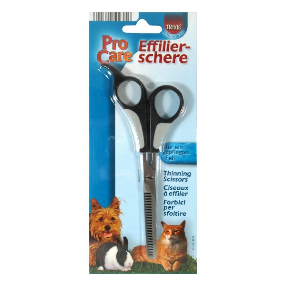 Nůžky na stříhání psů efilační jednostranné 18,5cm Trixie