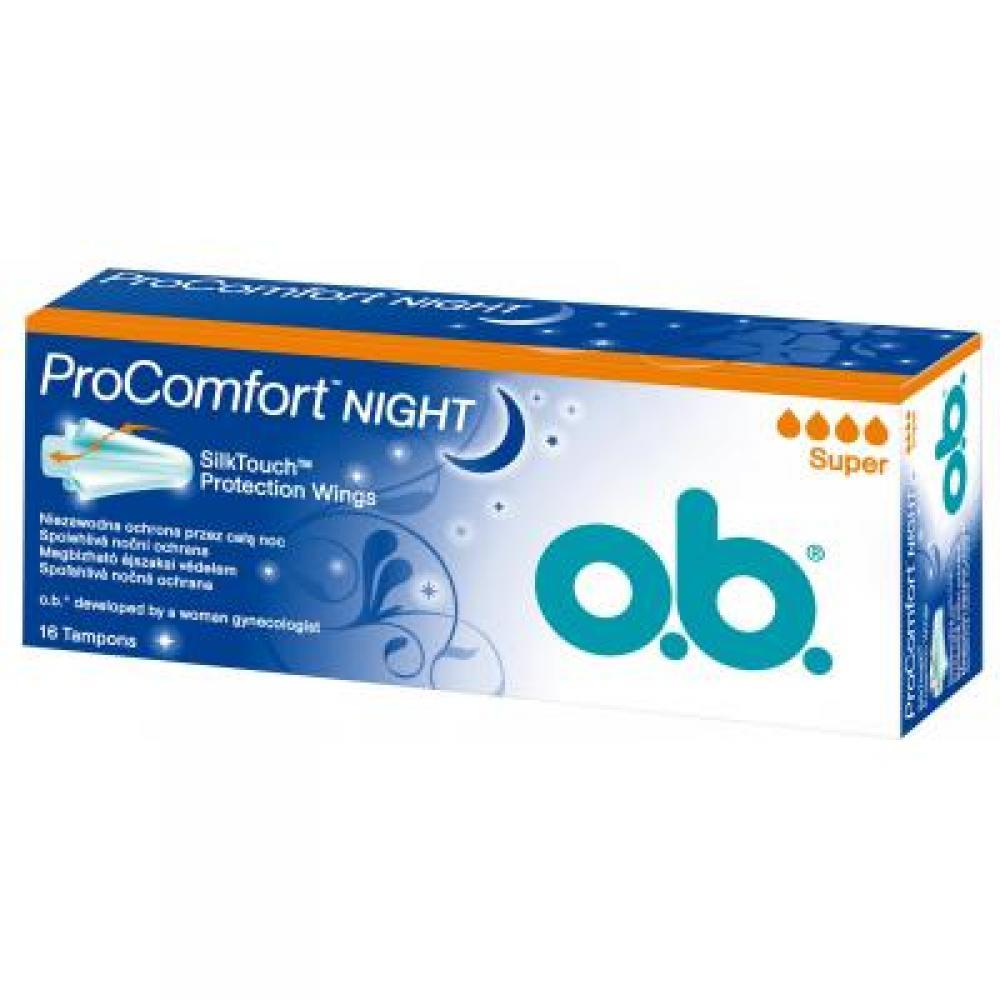 Tampony o.b.® ProComfort™ Night Super 16 kusů