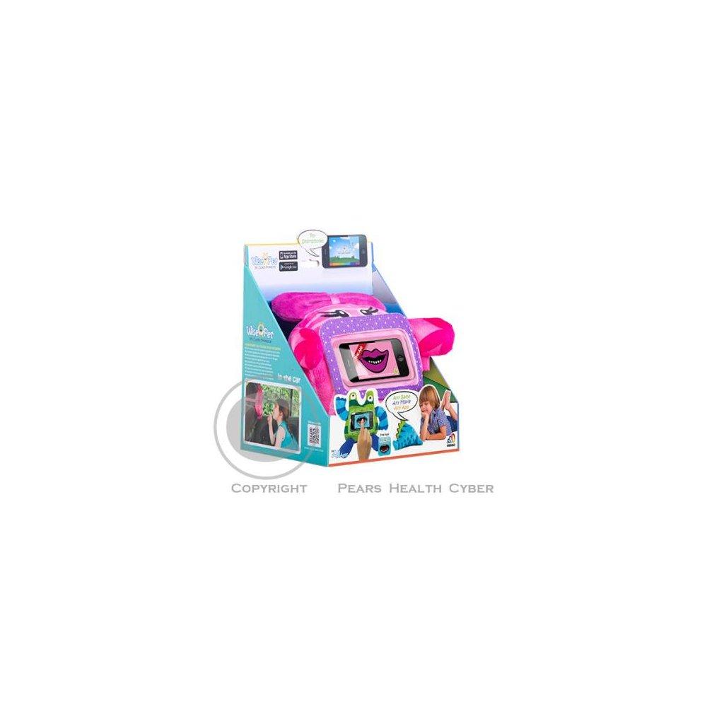 Ochranný a zábavný dětský obal / plyšová hračka na telefon GeBL, Pinky