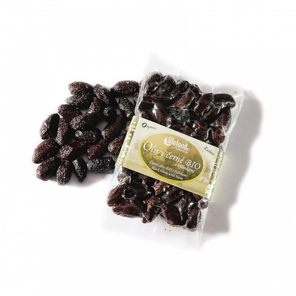 LIFEFOOD Černé olivy z Peru sušené s bylinkami BIO 150 g