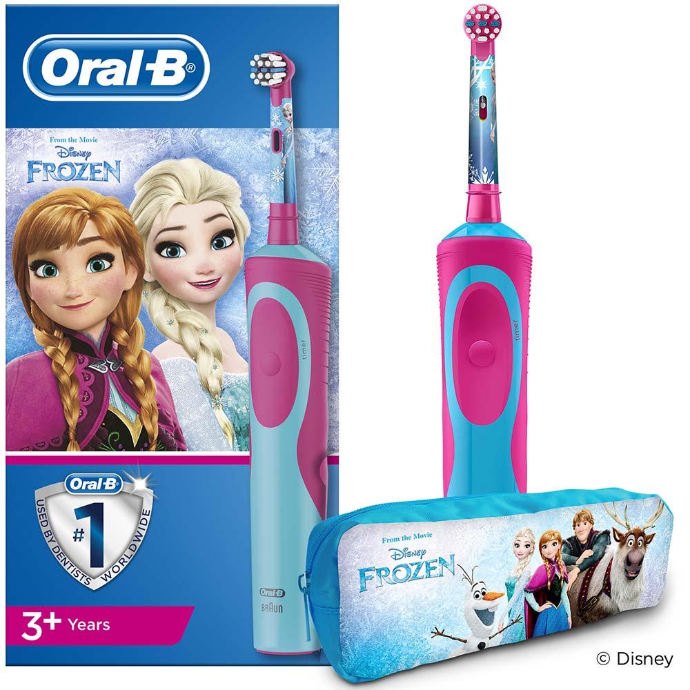 ORAL-B Vitality Frozen Dětský elektrický kartáček + penál