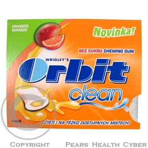 Orbit Clean Orange Mango 9 dražé