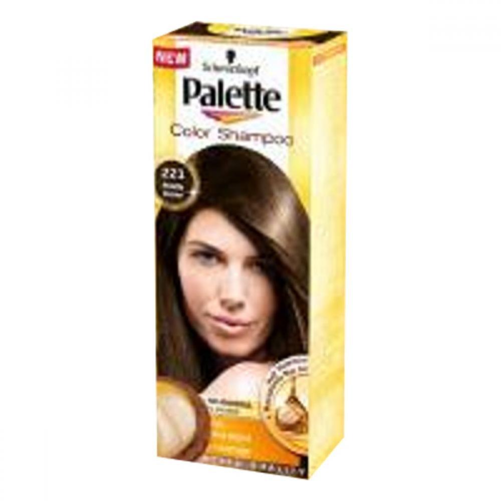 PALETTE Color shampoo 221 středně hnědý
