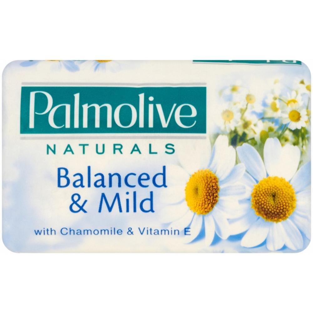 Palmolive Naturals Balanced & Mild toaletní mýdlo Chamomile & Vitamín E 90/100 g
