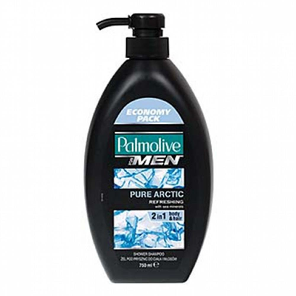 Palmolive sprchový gel 750ml for men pure arctic pumpička