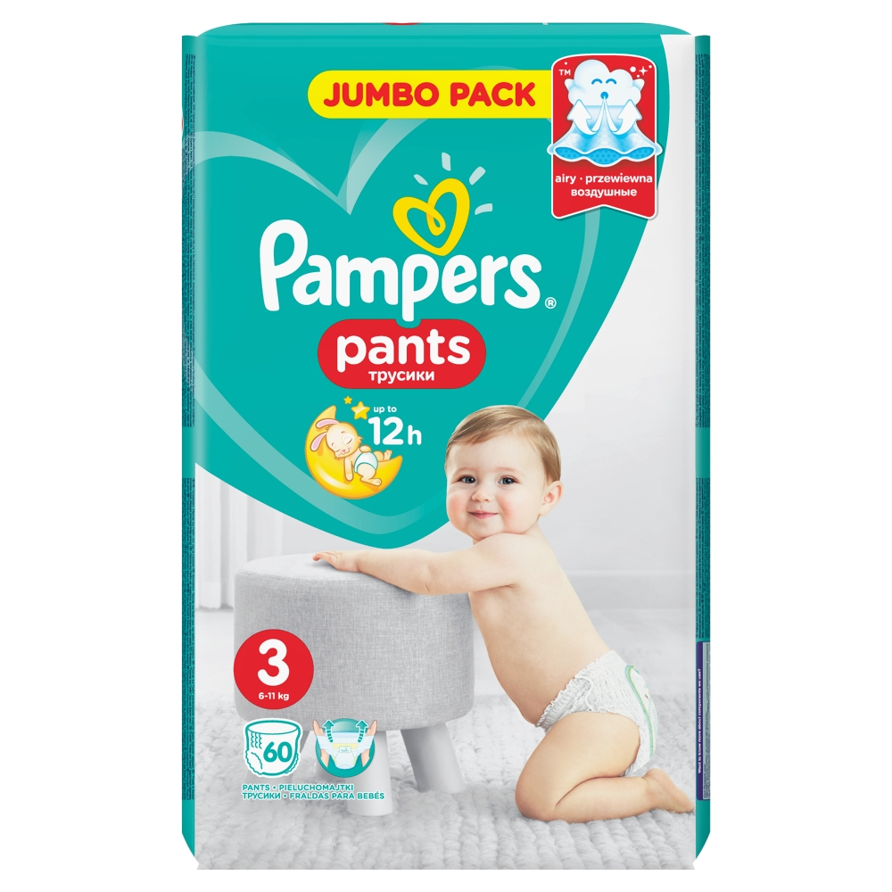 PAMPERS Pants JumboPack S3 Kalhotkové pleny 60 ks