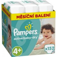 PAMPERS Active Baby-Dry Monthly 4+ MAXI 7-14 kg 152 kusů
