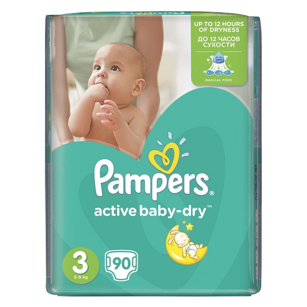 PAMPERS Active baby 3 midi 5-9 kg 90 kusů
