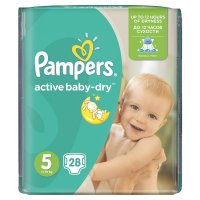 PAMPERS Active Baby-Dry 5 JUNIOR 11-18 kg 28 kusů