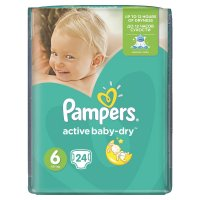 PAMPERS Active baby 6 extra large 15+ kg 24 kusů