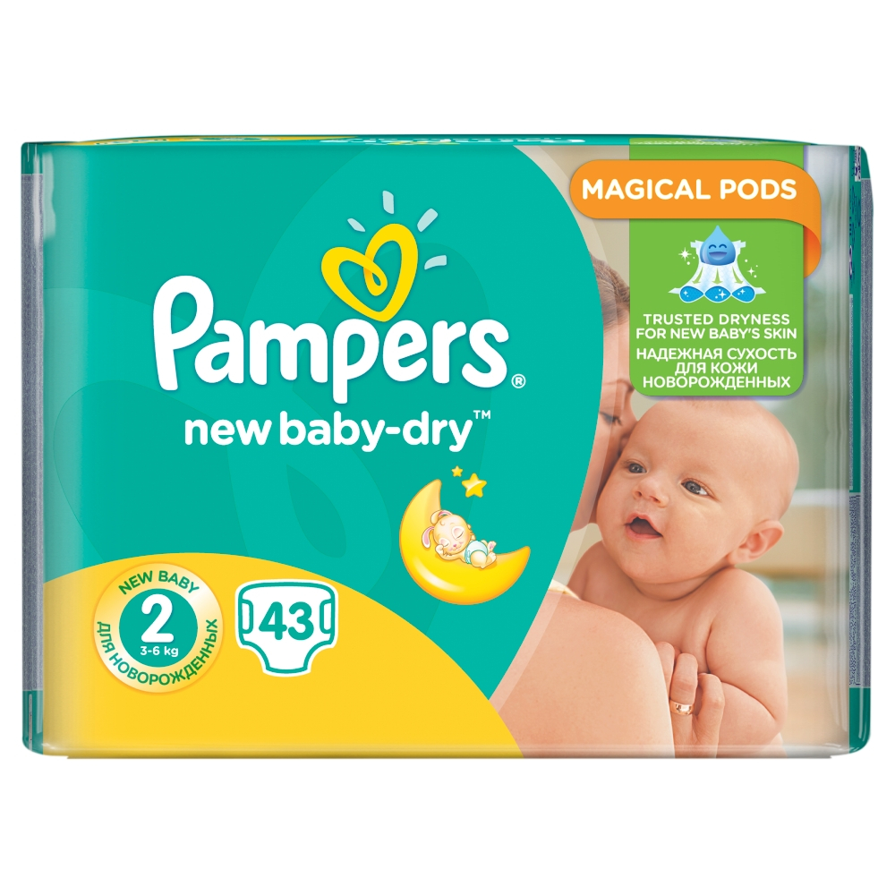 Pampers New Baby 2 Mini 43 kusů