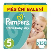 PAMPERS Active Baby-Dry 5 JUNIOR 11-18 kg 150 kusů