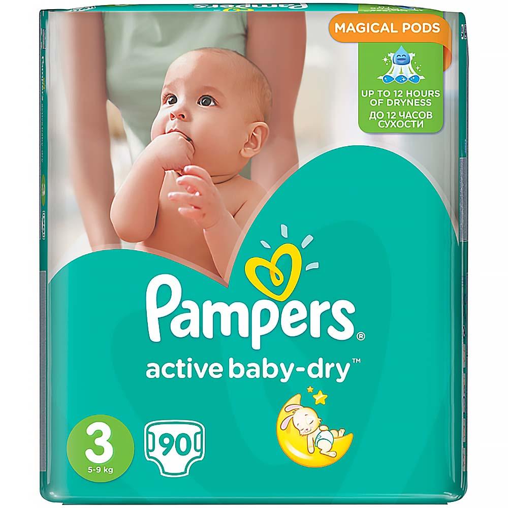 Pampers Active baby 3 midi 4 - 9 kg 90 kusů