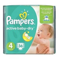PAMPERS Active Baby-Dry 4 MAXI 8-14 kg 36 kusů