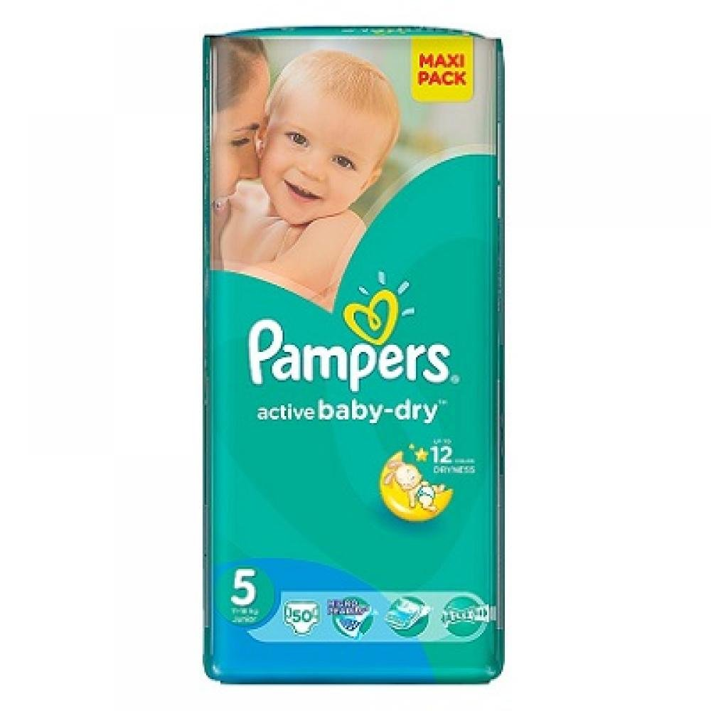 PAMPERS Active Baby-Dry 5 JUNIOR 11-18 kg 50 kusů