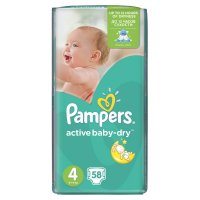 PAMPERS Active Baby-Dry 4 MAXI 8-14 kg 58 kusů