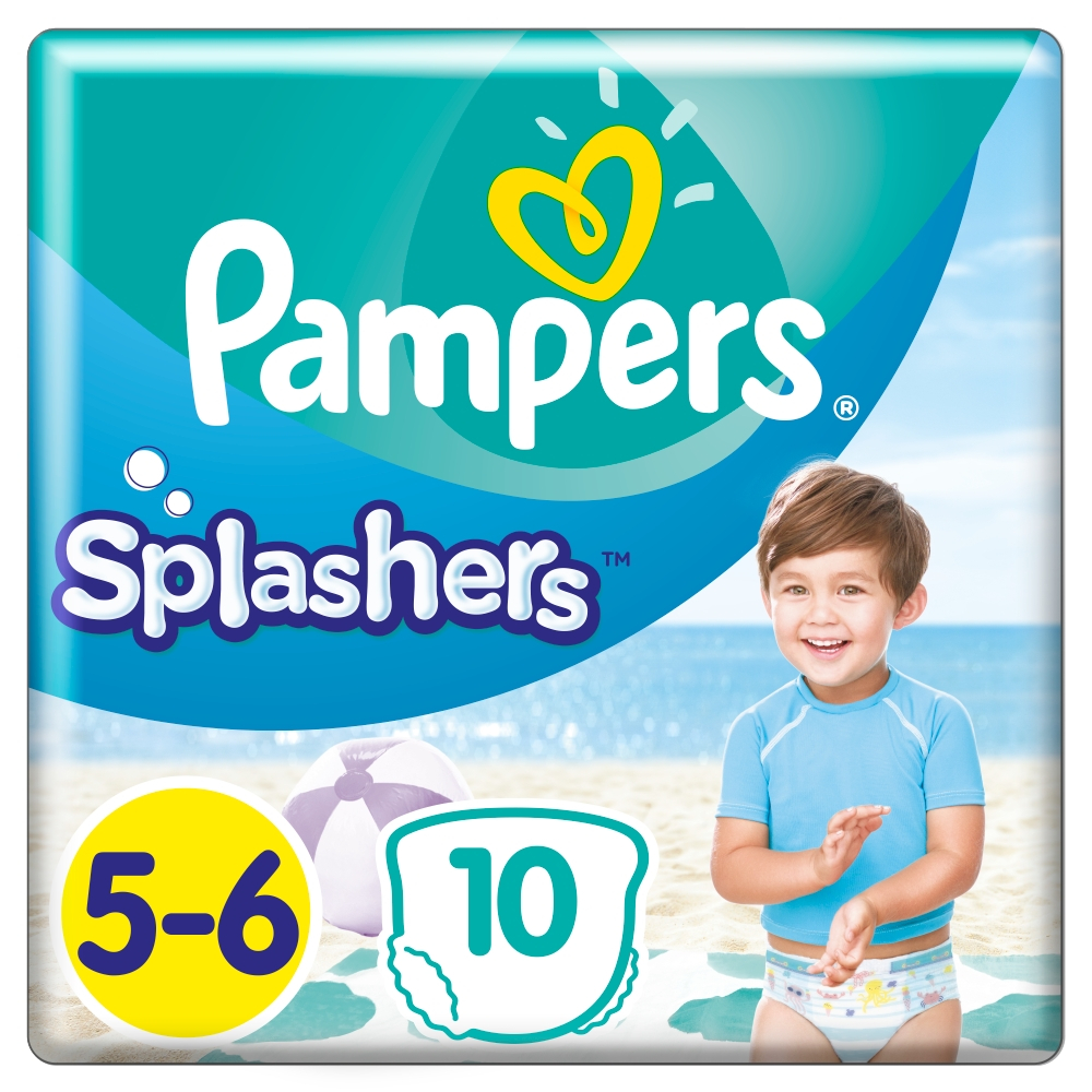 PAMPERS Splashers vel.5-6 Plenkové kalhotky do vody 10 ks