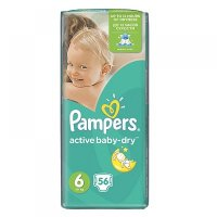 PAMPERS Active Baby-Dry 6 EXTRA LARGE 15+ kg 56 kusů