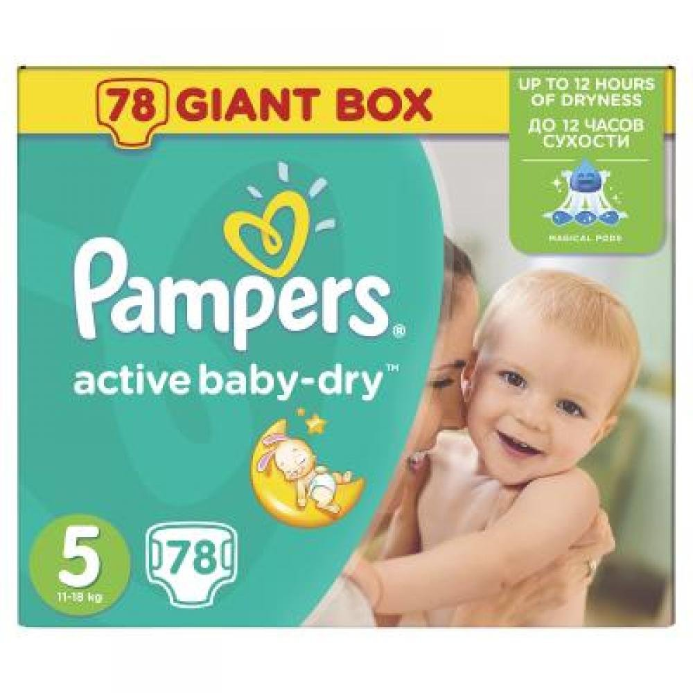 PAMPERS Active baby 5 junior 11-18 kg 78 kusů