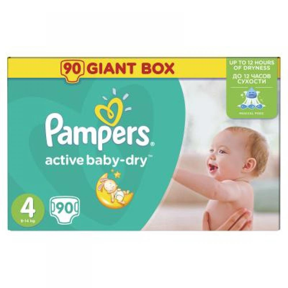 PAMPERS Active baby 4 maxi 7-14 kg 90 kusů