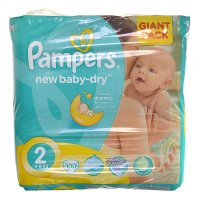 PAMPERS New baby 2 mini 3-6 kg 100 kusů