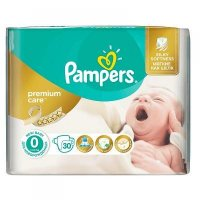 PAMPERS Premium Care 0 NEWBORN do 2,5 kg 30 kusů