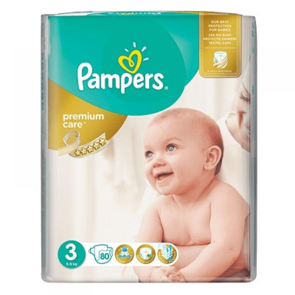 PAMPERS Premium Care 3 MIDI 4-9 kg 80 kusů