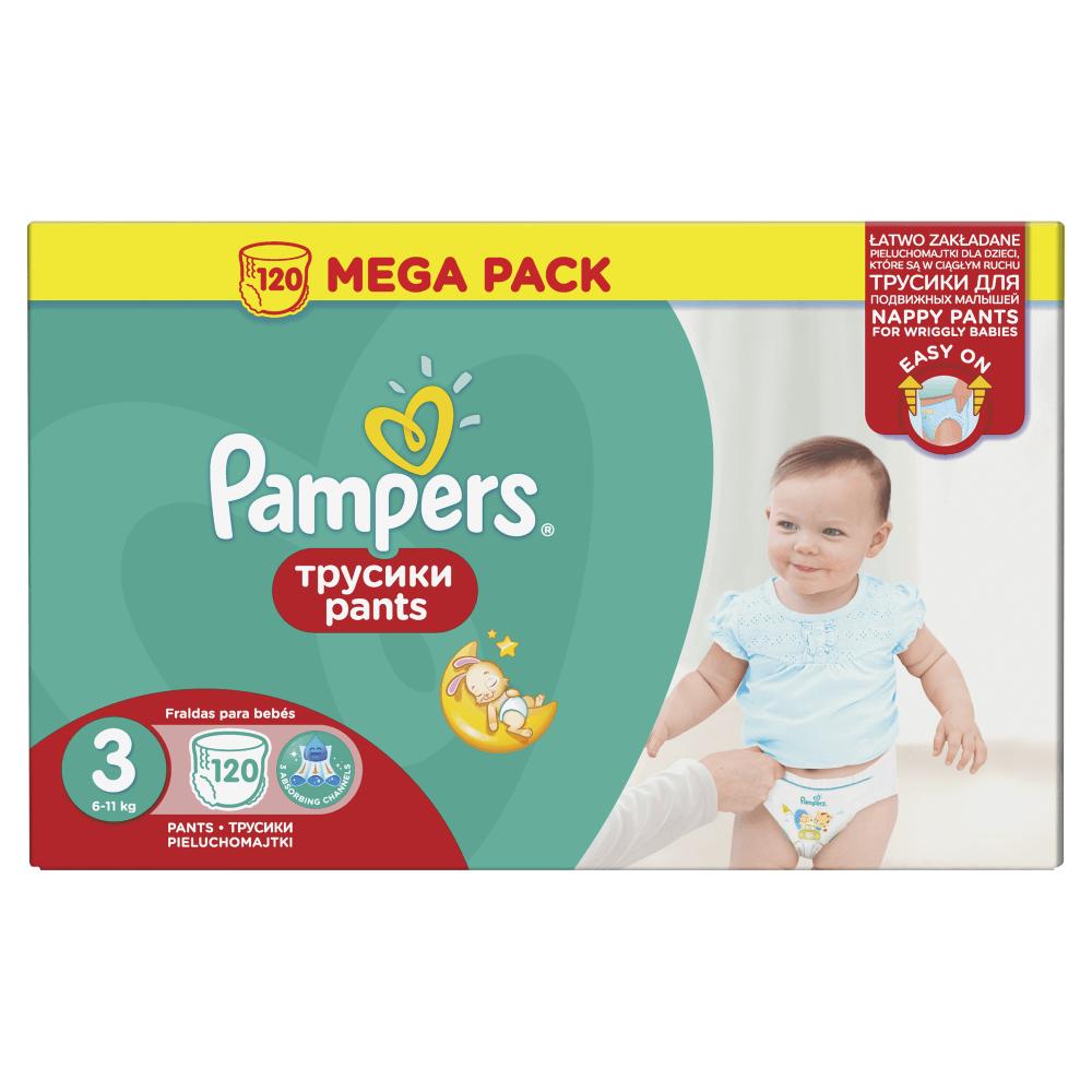 PAMPERS Plenkové kalhotky 3, 6-11 kg Mega Box 120 ks
