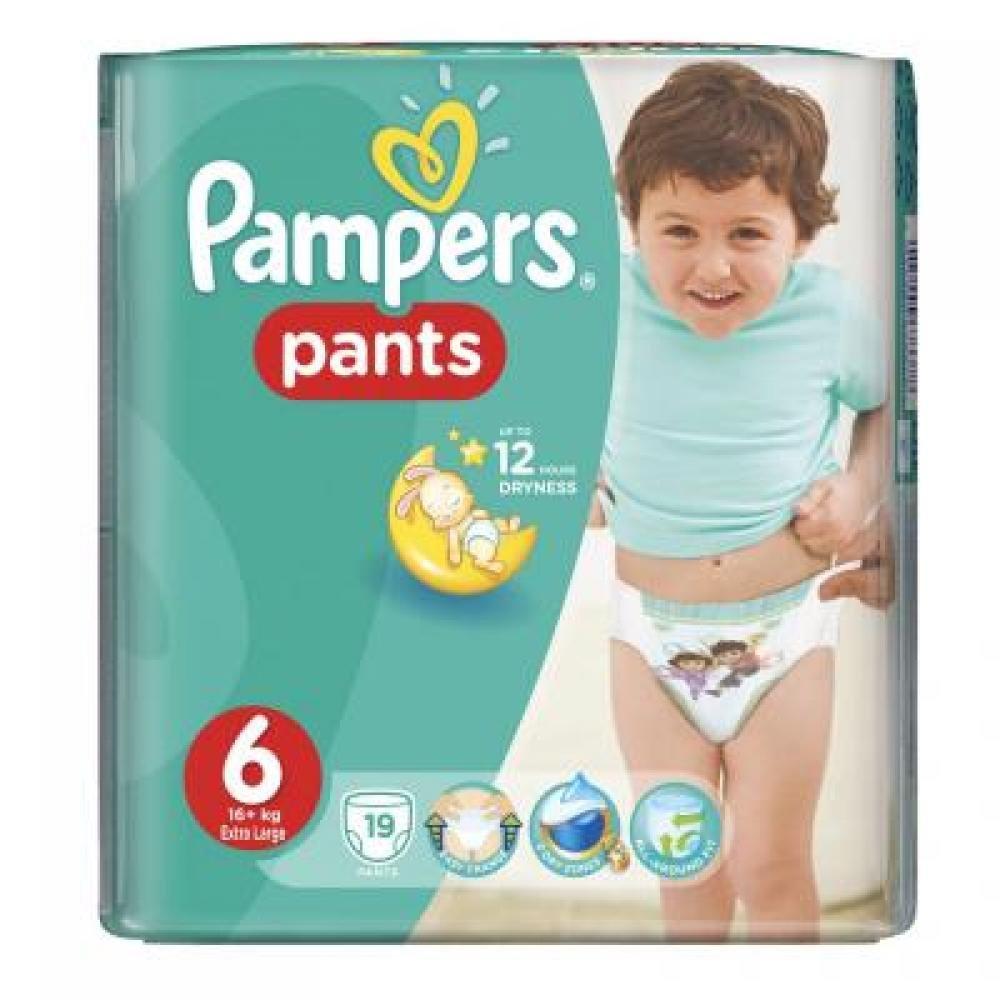 PAMPERS Pants 6 EXTRA LARGE 16+ kg 19 kusů