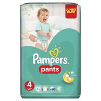 PAMPERS Pants 4 MAXI 9-14 kg 52 kusů