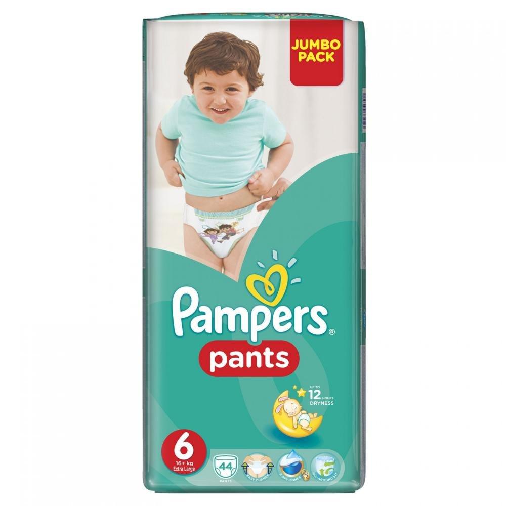 PAMPERS Pants 6 EXTRA LARGE 16+ kg 44 kusů