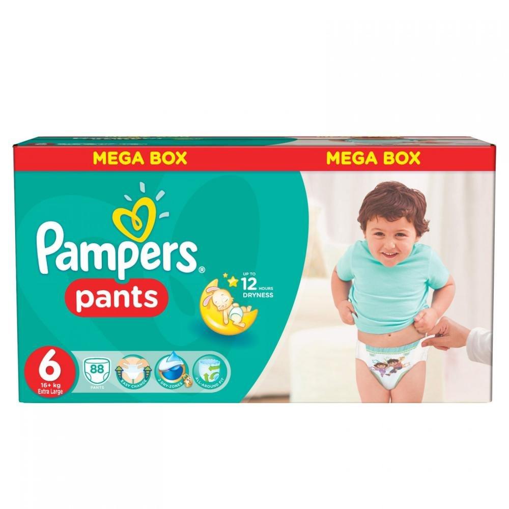 Pampers Kalhotkové plenky Mega Box velikost 6 (16+ kg) 88 kusů