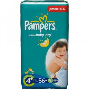 PAMPERS Active baby 4+ maxi 9-16 kg 56 kusů