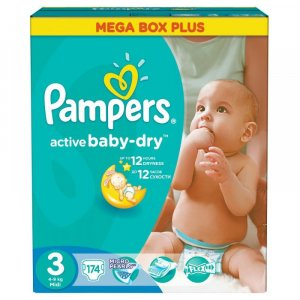 PAMPERS Active baby 3 midi 4-9 kg 174 kusů