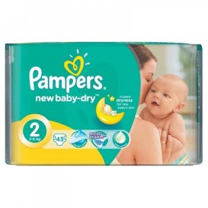 PAMPERS Active Baby-Dry 2 MINI 3-6 kg 43 kusů