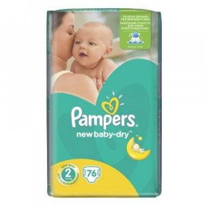 PAMPERS Active Baby-Dry 2 MINI 3-6 kg 76 kusů