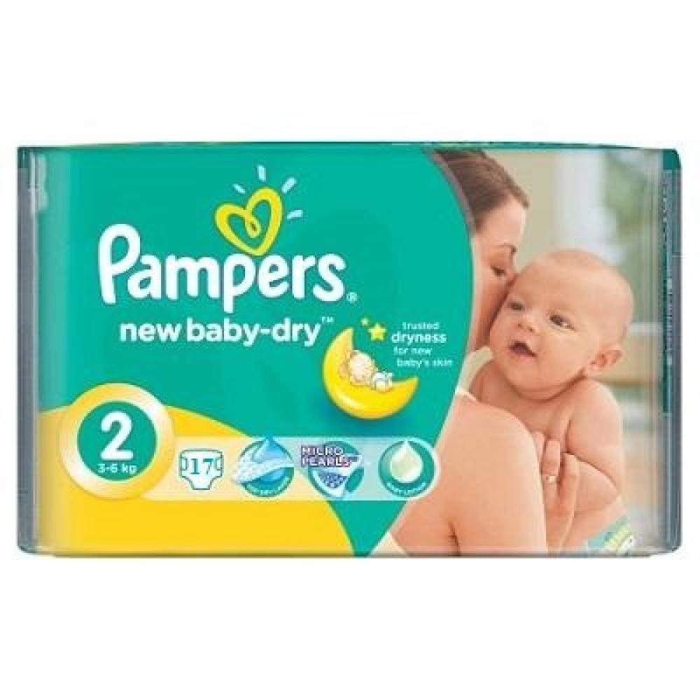 PAMPERS New Baby-Dry 2 MINI 3-6 kg 17 kusů