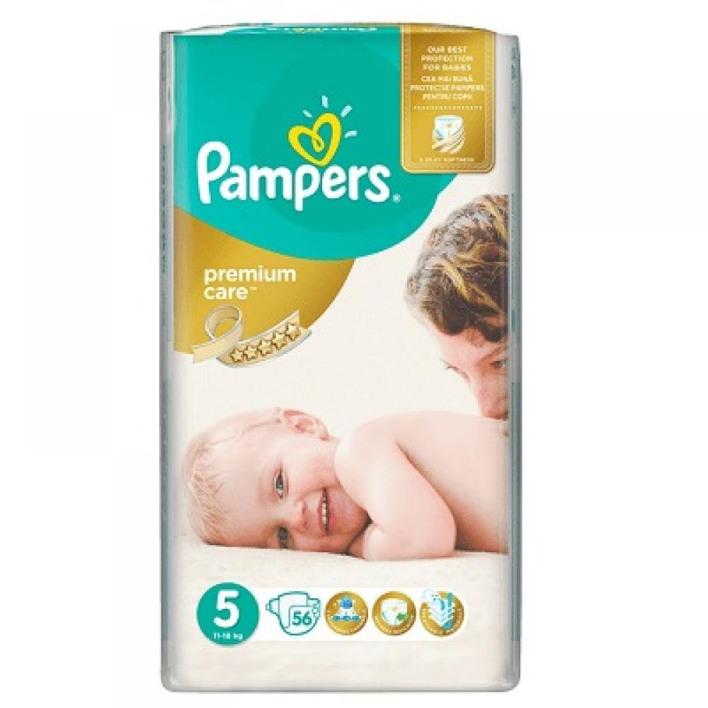 Pampers Premium Care Junior 11 - 25 kg 56 kusů