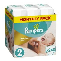 PAMPERS Premium Care Monthly 2 MINI 3-6 kg 240 kusů