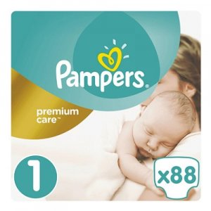 PAMPERS Premium Care 1 NEWBORN 2-5 kg 88 kusů
