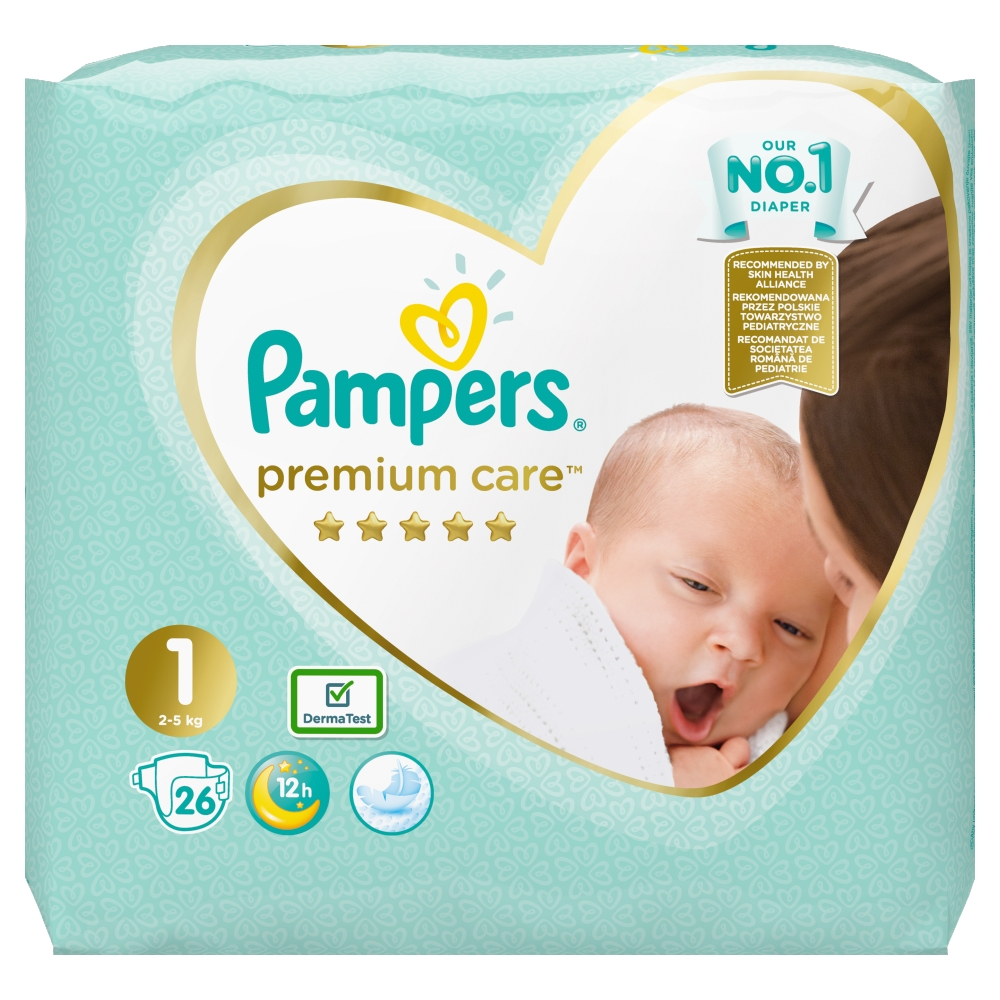 PAMPERS Premium Care Pack S1 Newborn 2-5kg 26 ks