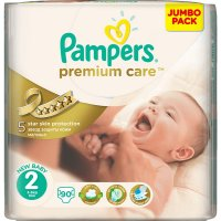 PAMPERS Premium Care 2 mini 3-6 kg 90 kusů