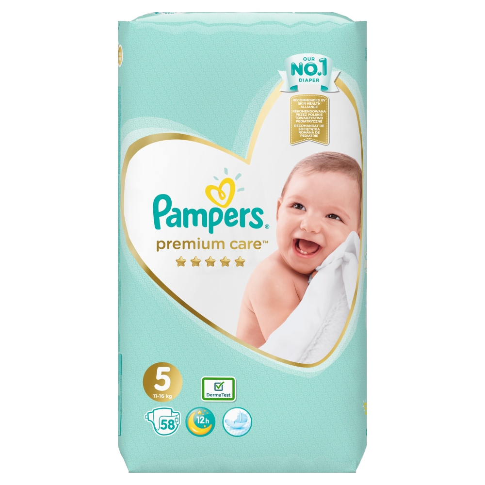 PAMPERS Premium Care vel.5 Jumbo Pack 11-16kg 58 ks