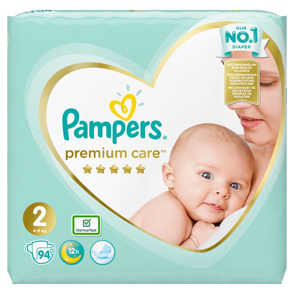 PAMPERS Premium Care vel.2 Jumbo Pack 4-8kg 94 ks