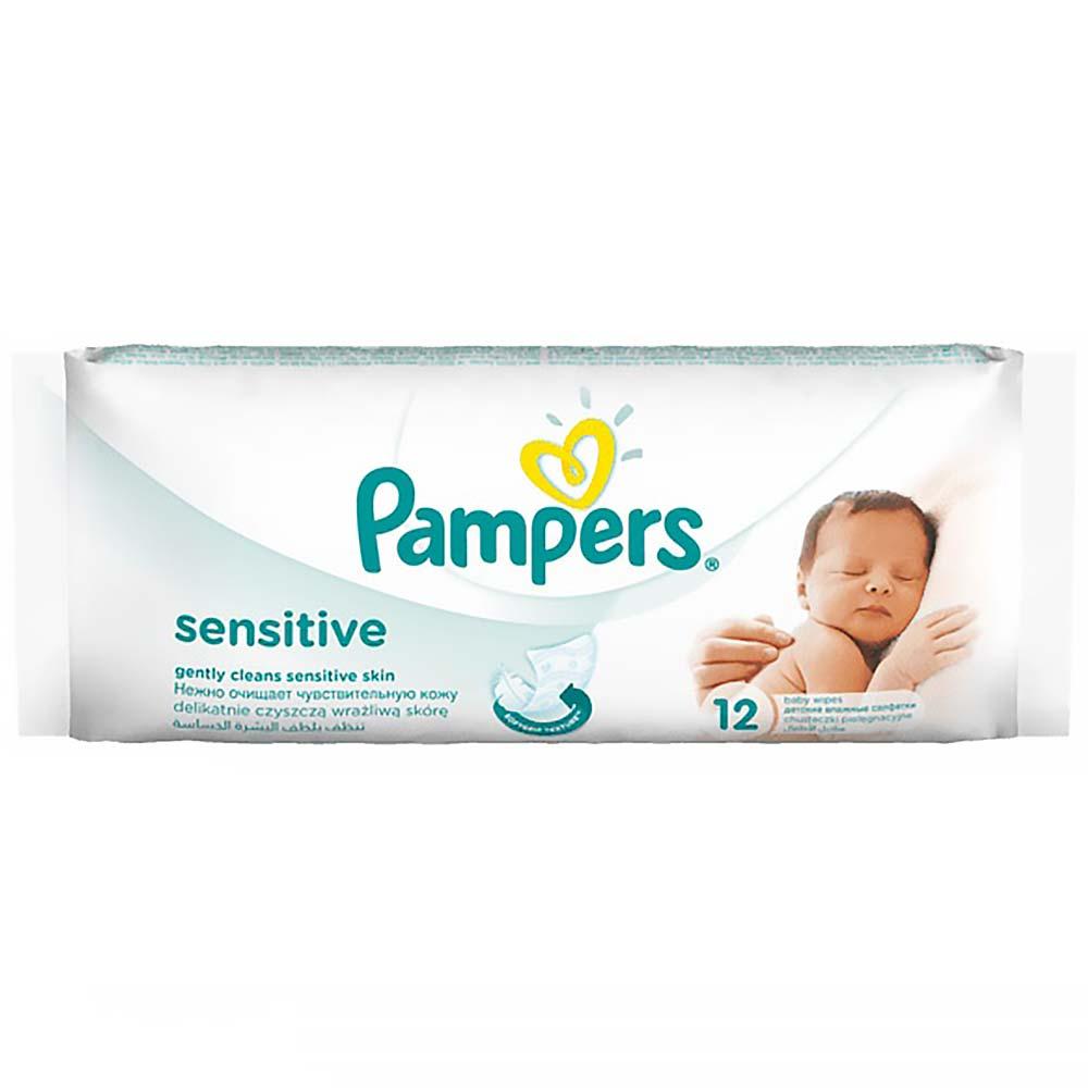 PAMPERS Sensitive dětské čisticí ubrousky 12 ks