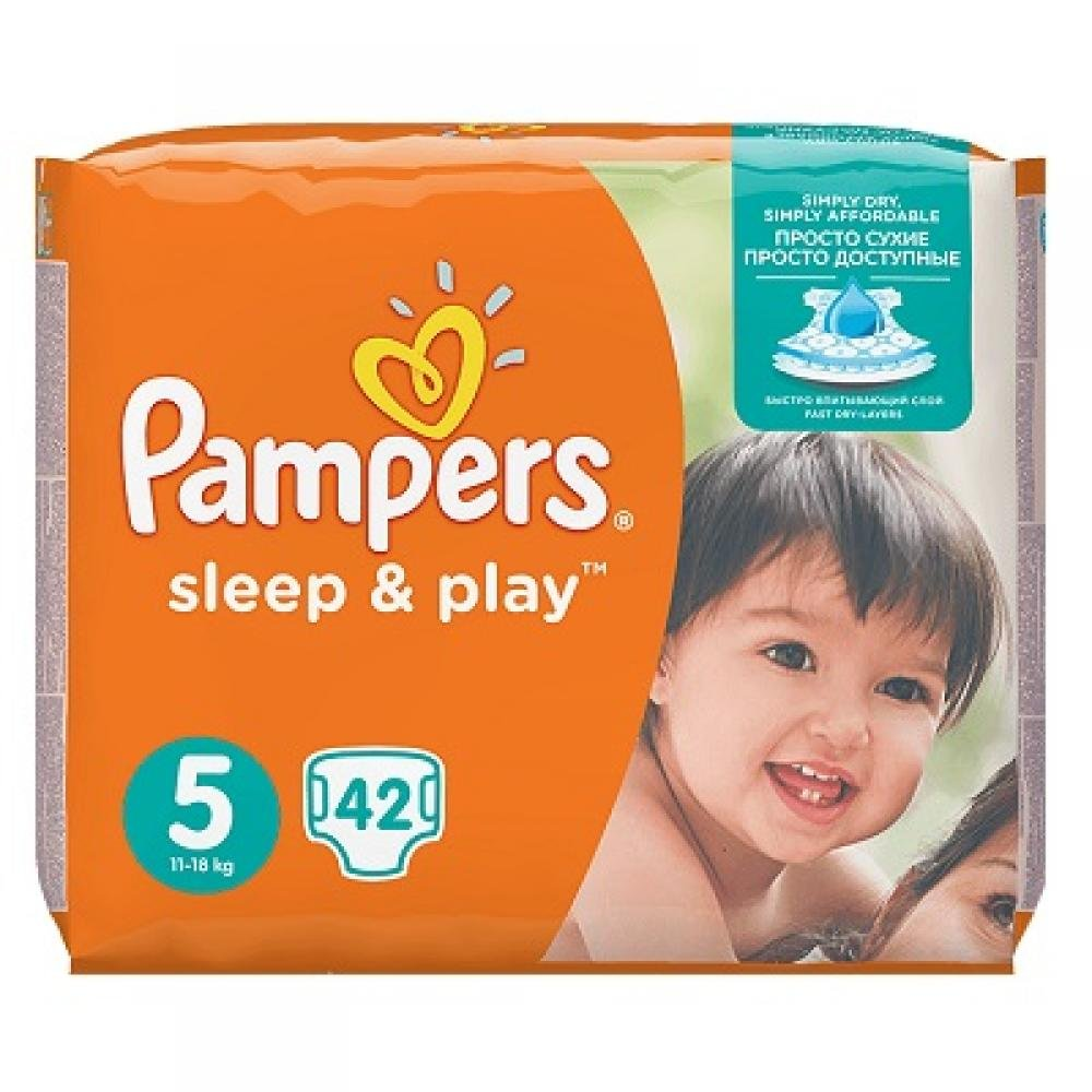 Pampers Sleep & Play 5 junior 11 - 18 kg 42 kusů